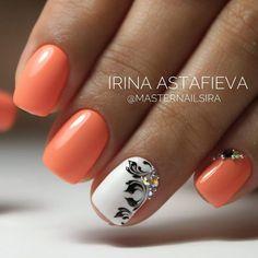 and Beautiful Nail Art Designs Silver Nails, Glam Nails, Cute Nails, Orange Nails, Red Nails, Hair And Nails, Silver Nail Designs, Toe Nail Designs, Pretty Nail Colors