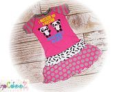 """Girls size 6/7  Upcycled New I Mustache Ask you a Question Pandas T-Shirt Dress   13"""" x 26"""""""