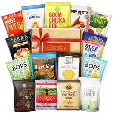 Gluten Free Snacks Healthy Gift Box Premium Care Package( Natural Organic Non GMO Vegan) Great College Care Package