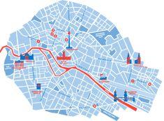 Leaflet Design, Map Design, Positive Energie, Map Projects, Plakat Design, National Parks Map, Information Design, Labor, Map Vector