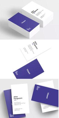 Visser Minimal Business Card Template PSD