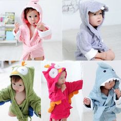 Made of towel cotton for the baby bathrobe, it is good for infant healthy. Perfect for using as bath towl, bath robe and blanket. Owl Cartoon, Baby Cartoon, Cartoon Kids, Towel Animals, Cute Animals, Hooded Bath Towels, Baby Towel, Baby Kind, Wrap