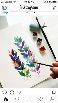 New Flowers Painting Easy Watercolor Techniques 16 Ideas Watercolor Flowers Tutorial, Flower Tutorial, Watercolour Flowers, Watercolor Tutorials, Watercolor Water, Watercolor Background, Watercolour Step By Step, Simple Watercolor Paintings, Watercolor Leaves