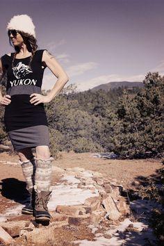 Refashioned Yukon Bear Black and Grey Tshirt by stoneandsagelegacy