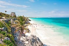 Tulum is one of Mexico's most stylish beach destinations and a great way to escape your January blues. Tulum Beach, Destin Beach, Beach Resorts, Vacation Destinations, Vacation Spots, Wedding Destinations, Wedding Venues, Vacations, Vacation Packages