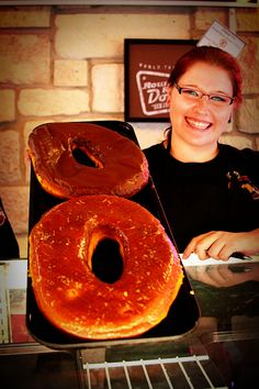The Texas-Sized donut from Round Rock Donuts