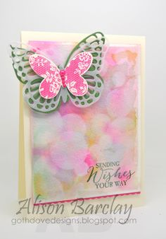 Gothdove Designs - Alison Barclay Stampin' Up! ® Australia : Stampin' Up! Australia - Color Coach Card #98 - Butterfly Basics Bokeh