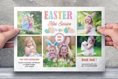 Easter Photography Mini Session Template Photography Mini Sessions, Book Photography, Photo Folder, Photography Marketing, Photography Business, Print Release, Text On Photo, Photoshop Elements, Flyer Design