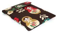 Ipad Cover  Russian Matryoshka Dolls Dark by WhimsyWooDesigns, £18.00