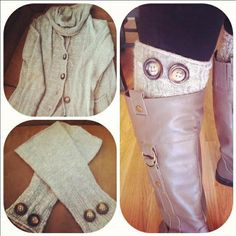 Boot Liners! #Upcycle and grab an affordable scarf from #Goodwill!