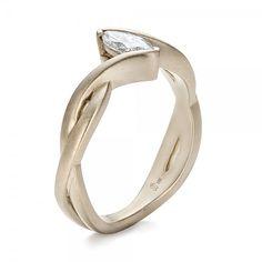Custom Engagement Rings-Custom Solitaire Marquise Diamond Engagement Ring