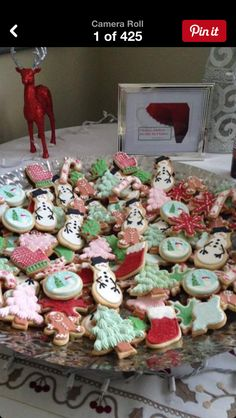 Gingerbread men, Christmas Trees, Mittens, Candy cane, Snow scene and Snowmen decorated butter cookies.  Place your orders soon, Christmas is 37 days away