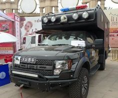 Chinese police truck 2013 black Ford Raptor SVT F-150 truck