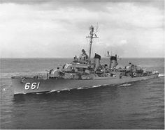 """USS KIDD"" (DD-661) was a (376') Fletcher Class Destroyer (Honors 12 Battle Stars) Commissioned: 23 April 1943 – Crew: 329 Officers and Enlisted - Armament: 5 x 5 Inch (127mm) Guns, 14 x 40mm AA Guns (3 Twin and 2 Quad Mounts 12 x 20mm AA Guns (6 Twin) 5 x 21 Inch (533mm) Torpedo Tubes (1 x 5 Tube Launcher) 6 x Depth Charge K-Gun Throwers and 2 x Depth Charge Tracks -  Decommissioned: 19 June 1964 - Museum ship in Baton Rouge, La"