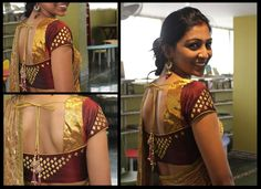 Beautiful blouse in maroon and gold from Studio 149 by Swathi