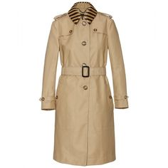 Burberry Prorsum Trench Coat With Raffia Collar (€1.560) ❤ liked on Polyvore featuring outerwear, coats, jackets, burberry, burberry prorsum, yellow, belted coat, yellow coat, burberry coat and single breasted coat