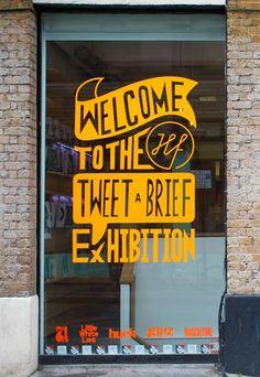 Tweet-A-Brief exhibition front