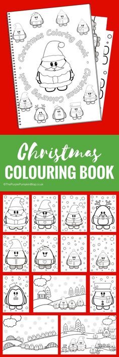 Christmas Colouring Book - this super cute 15 page colouring book is just £2.95 from The Purple Pumpkin Blog! You can't buy it anywhere else as the cute characters are all designed in-house. This is one to keep the kids busy while they're waiting for Father Christmas!