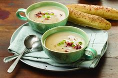 Slow Cooker Garlic Mashed Potato Soup on Real Mom Nutrition