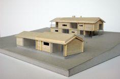 Log House - model