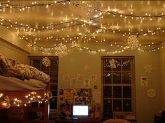 Putting lights up in either our room, Isaac's room or living room. Such a cozy feel!