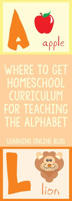 Teaching the alphabet to one of your children? Here's where you can get resources to do that.