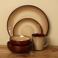 @Overstock - This Nova Brown 40-piece stoneware dinnerware set has a rustic look and casual style that makes it ideal for everyday use or informal events. The set provides service for eight, is microwave and dishwasher-safe, and comes in a neutral brown color.http://www.overstock.com/Home-Garden/Sango-40-piece-Nova-Brown-Stoneware-Dinnerware-Set/5166018/product.html?CID=214117 $99.99