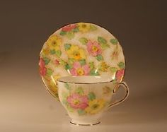 Pink Tuscan China Handpainted CUP AND Saucer Pattern C8240 Made IN England | eBay