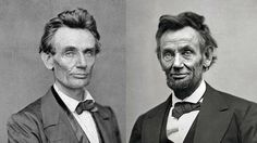 The first & last portrait photos of Lincoln as President: May 1860 & Feb 1865.