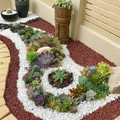 10 Cheap And Easy Tips: Gravel Garden Ideas Outdoor Rooms backyard garden path arbors.Garden For Beginners Succulents backyard garden path arbors. Succulent Landscaping, Front Yard Landscaping, Landscaping Ideas, Backyard Ideas, Succulent Garden Ideas, Landscaping Software, Easy Garden, Luxury Landscaping, Outdoor Landscaping