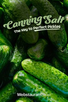 Pickling salt, also called canning salt or preserving salt, is a fine-grain salt with no additives. Made of pure sodium chloride, pickling salt doesn't contain the iodine and anticaking agents that are traditionally added to table salt.