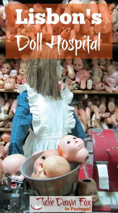 Lisbon's Doll Hospital, Hospital das Bonecas, is a fascinating place that's overlooked by most tourists. The family business has been operating on poorly dolls and toys for almost 200 years and has an astounding collection of dolls that spans centuries. Click to read all about it on http://juliedawnfox.com/2016/07/25/lisbons-doll-hospital/