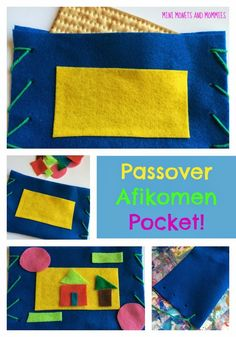 Hide the Afikomen Pouch: Passover Craft for Kids Passover Crafts More from my site A round up of Passover crafts for kids! Passover Crafts for Kids Awesome crafts to make with your children this Passover! Passover Crafts for Preschoolers Activities For Adults, Spring Activities, Infant Activities, Art Activities, Passover Holiday, Passover 2017, Passover Feast, Jewish Crafts, Craft Projects For Kids