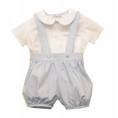 We think #PrinceGeorge would love our William romper set £75. The shirt has sweet peter pan collar with pale blue piping and the classic style puff pants finish the outfit!