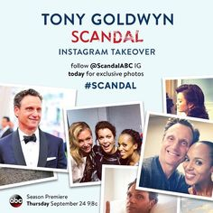 @tonygoldwyn is taking over @scandalabc's Instagram today! Follow for exclusive photos!! #Scandal #502 7/28/15