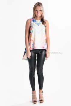 finders keepers same direction top - pink/green