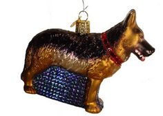 """German Shepherd Christmas Ornament 12212 4 1/2"""" x 3 1/2"""" *Ornament does not come in a box Beautiful black and brownish gold German Shepherd dog Christmas ornament. Great keepsake for"""