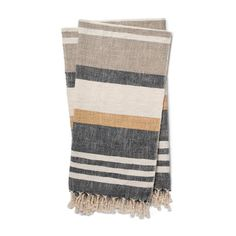 Bring a warm and chic touch to your décor with the Magnolia Home By Joanna Gaines Maye Throw Blanket. Designed with beautiful bold stripes and a fringe trim, this throw is perfect for your rustic home. Magnolia Joanna Gaines, Joanna Gaines Style, Chip And Joanna Gaines, Magnolia Home Collection, Human Kindness, Magnolia Homes, Bold Stripes, Charcoal, Blanket