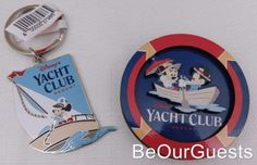 Disney-Parks-Yacht-Club-Resort-Magnet-and-Keychain-Key-Ring-Set-New