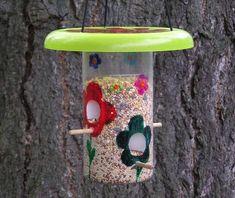 ruční krmítko pro ptáky, řemesla nápady pro děti i dospělé