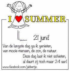 21 juni Summer - Jabbertje