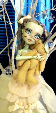 OOAK Monster High Frankie Stein Repainted Doll via Etsy.