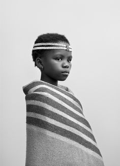 Thandokazi Mbane, by Andrew Putter. Part of a series of 21 black-and-white photographs of contemporary black Capetonians, in 'tribal' costume in the genre of the iconic ethnographic photographer. Black Is Beautiful, Beautiful People, White Photography, Portrait Photography, African Tribes, African Culture, Black And White Portraits, Africa Fashion, Photojournalism