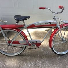 Antique 1957 Western Flyer boys bicycle $700 Weird Stuff Antiques 1703 W. 9th St. Kansas City, MO 64101 816-868-6206 call or text Friday - Sunday : 11am - 5pm other times by appointment