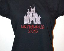 2016 Nationals Tee by BowsWithAttitude on Etsy Cheer Shirts, Cheerleading Shirts, Nca Cheer, Summit Cheer, Cheer Pom Poms, Disney Shirts, Trending Outfits, Tees, Cheer Stuff