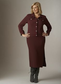 Mini Ottoman Suit from Monroe and Main. Fashion Fit For You in Misses & Plus Sizes.