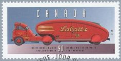 The Labatt Streamliner , a 1947 White with custom cab & trailer