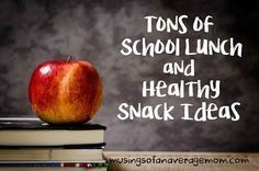 Tons of hot lunches, sandwich options, and healthy snack ideas for school