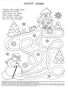 Ledový zámek-bludiště 4 Year Old Activities, Winter Activities For Kids, Infant Activities, Winter Art, Winter Theme, Christmas Crafts For Kids, Holiday Crafts, Christmas Coloring Pages, Free Coloring Pages