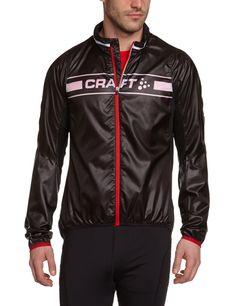 Craft - Chaqueta de ciclismo para hombre, color negro, talla L